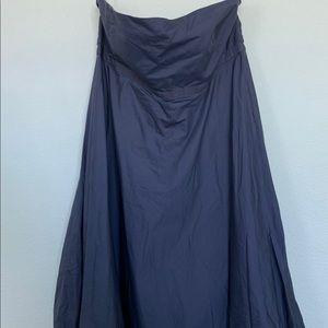 Vintage strapless blue GAP dress